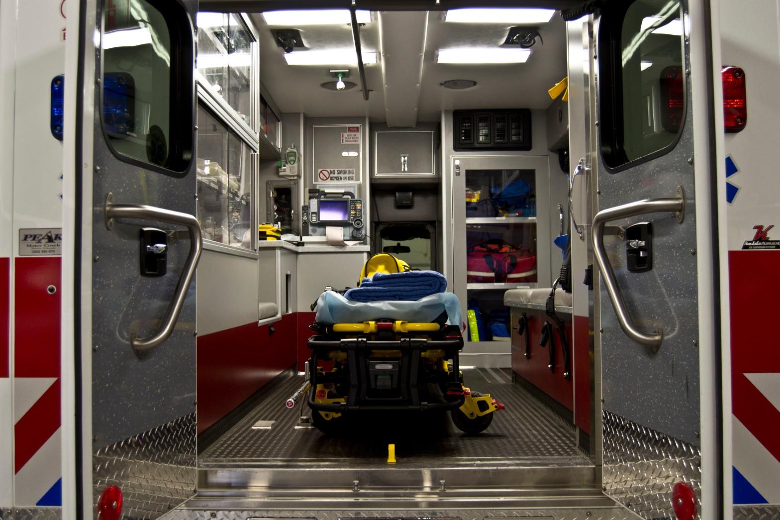 Inside Ambulance Box-Gurney View