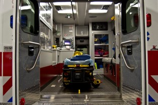 Inside Ambulance Box-Gurney View